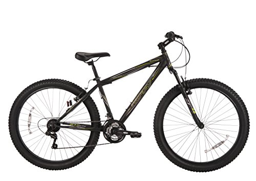 Huffy Bicycle Company Men's Vantage 3.0 Mountain Bike, Satin Pure Black, 27.5″/Medium For Sale