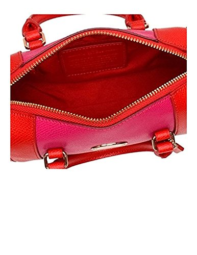 Bicolor Coach Bennett PINK IM Crossgrain 35533 Handbag CARDINAL RUBY Satchel Baby Crossbody ZpTf7Wwqp