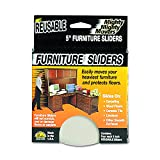 Master Caster 87007 Mighty Mighty Movers Reusable Furniture Sliders, Round, 5'' Dia, Beige (Pack of 4)