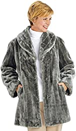 Amazon.com: Grey - Fur & Faux Fur / Coats Jackets & Vests