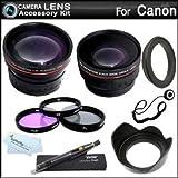 Deluxe All In Lens Kit For CANON VIXIA HF R82, HF R80, HF R800, HF R700, HF R72, HF R70 Camcorder Includes HD .43x Wide…