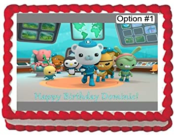 Octonauts Edible Image Cake Topper Birthday PERSONALIZED FREE