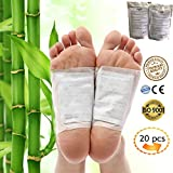 Foot Pads - Aromatherapy Foot Pads 20 pcs Healthy Feet, Relaxation and Pain Relief Pad, Natural Bamboo