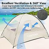 WhiteFang Beach Tent Anti-UV Portable Sun Shade