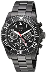 Akribos XXIV Men's Multi-Function Black Case with Black Dial and Black Stainless Steel Bracelet Watch AK950BK