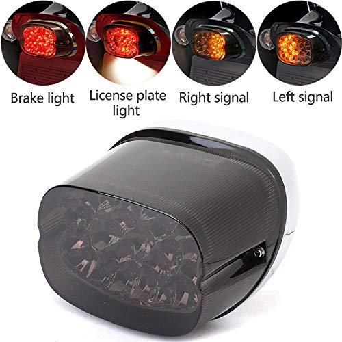 Smoke LED Tail Light Turn Signals for Sportster 883 Electra Glides Road Glides Dyna Nightster Street Bob Brake Park License Plate Light