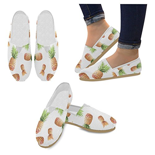 Mocassini Da Donna Di Interestprint Classico Su Tela Casual Slip On Fashion Shoes Sneakers Flat Fruit Ananas