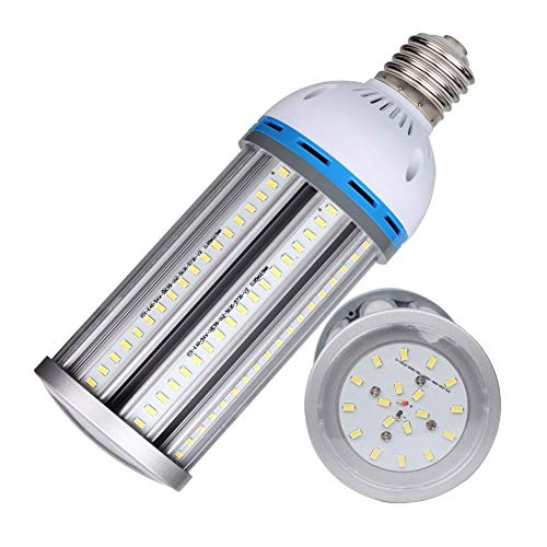 54W E39 LED Corn Light Bulb Large Mogul Base, 250 Watt High Bay Light, Metal Halide, HID/HPS or 150w CFL Replacement, 6000K Daylight White, AC100-240V, Pack of 1