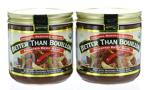 Pack 2 - Better Than Bouillon Organic Beef Base, Reduced Sodium - 16 oz