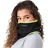 TrailHeads Fleece Neck Warmer/Gaiter - black / hi-vis