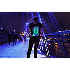 Illuminated Apparel Interactive Glow in The Dark T-Shirt – Fun for Birthday Parties & Festivals – Light up The Night Novelty [tag]