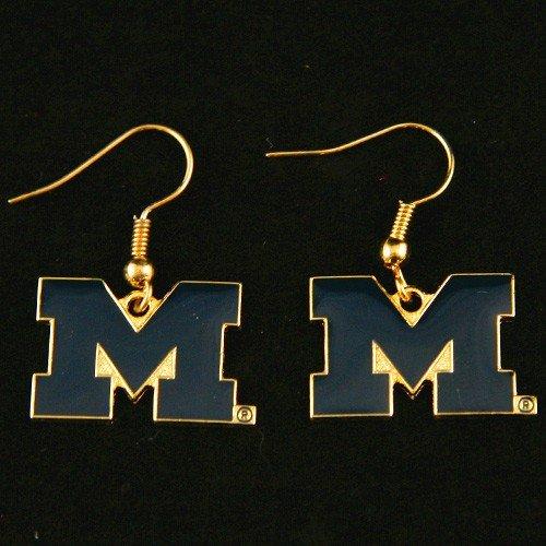 - Michigan Wolverines - NCAA Team Logo Dangler Earrings