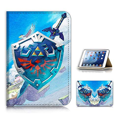 (for iPad Mini 1 2 3, Generation 1/2/3) Flip Style Case Cover, Shock Protection Design with Screen Protector - B31103 Legend of Zelda -
