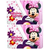 Disney Minnie Mouse Plastic Placemat Set [2-Per Pack]