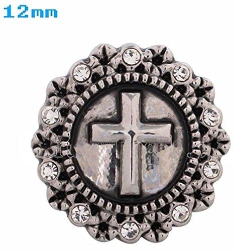 Mini Antiqued Cross Charm - 5