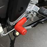 Ecosin Shifter Cover Rubber Gear Shift Shifter Sock Cover Boot Protector Dirt Bike Motorcycle For Kawasaki, Honda, Suzuki, Yamaha, Honda Goldwing (Red)