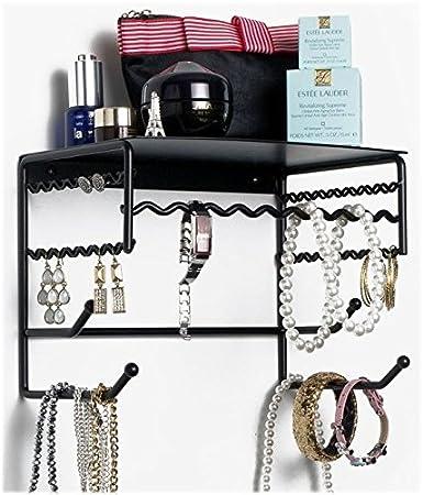 Amazoncom Black 10 Wall Mount Jewelry Accessory Storage Rack