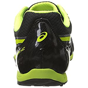 ASICS Men's Hyper XC Cross Country Spike, Black/Flash Yellow/Carbon, 9 M US