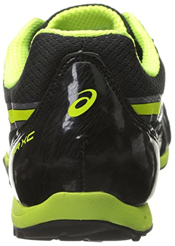 Hombre Hyper XC Cross Country Spike, Negro / Flash Amarillo / Carbono, 10 M US