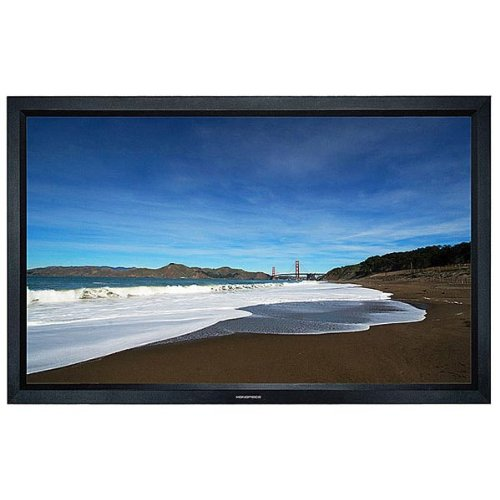 Monoprice Fixed Frame Projection Screen (8cm Aluminum Frame w/ Velvet Wrapped) - HD White Fabric (130 inch, 2.35:1)