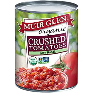 Muir Glen Organic Crushed Tomato with Basil, 28-Ounce Cans (Pack of 12)