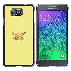 Caucho caso de Shell duro de la cubierta de accesorios de protección BY RAYDREAMMM - Samsung ALPHA G850 - Pollo Partido Nugget