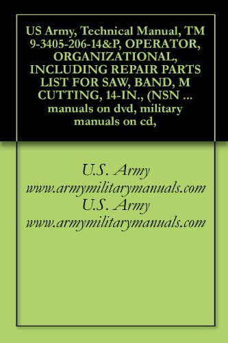 US Army, Technical Manual, TM 9-3405-206-14&P, OPERATOR, ORGANIZATIONAL, INCLUDING REPAIR PARTS LIST FOR SAW, BAND, M CUTTING, 14-IN., (NSN 3405-00-409-0063), ... manuals on dvd, military manuals on cd,