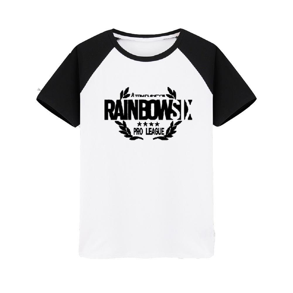 Été T-Shirt Coton Noir Blanc Shirt Homme Femme Top Vêtements pour Jeu Cosplay Costume Déguisements