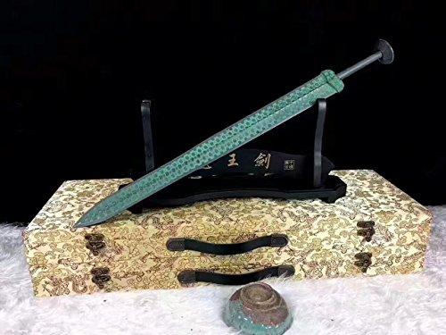 Bronze Sword - Chinese Sword,Bronze Sword,Overall Brass Production,Green Surface,Sword of Goujian Replica