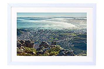 Amazon Com Cape Town South Africa Art Print White Wood Framed