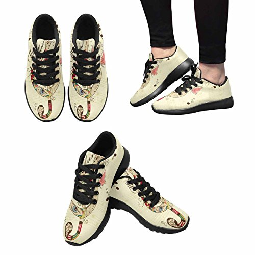 InterestPrint Womens Jogging Running Sneaker Lightweight Go Easy Walking Comfort Sports Running Shoes Multi 7 Qm0j7