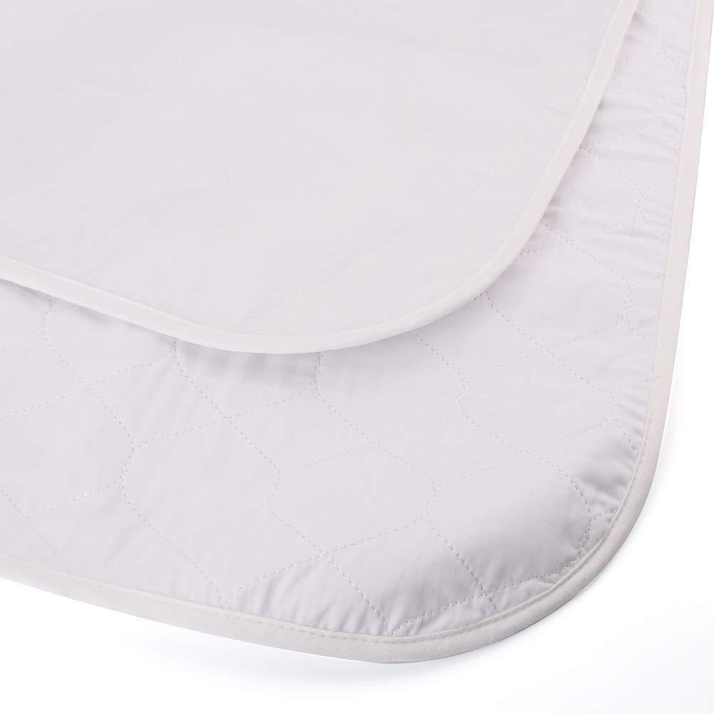 Tebery Toddler Mattress Pad Protector Slip-Resistant Waterproof Mattress Pad Cover (58.5 x 30)
