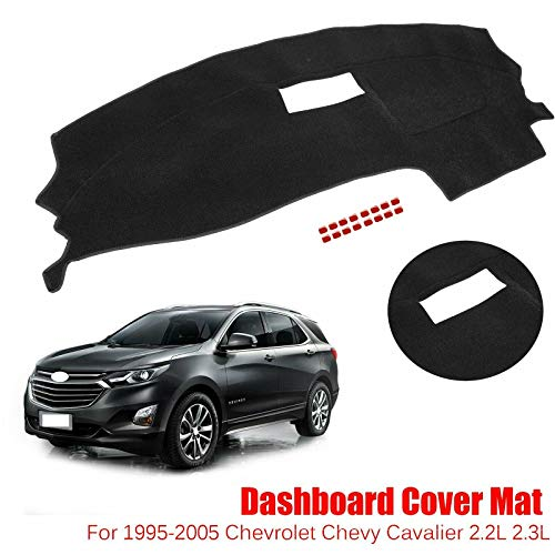 JIUAUTOPARTS for 1995-2005 Chevrolet Chevy Cavalier Black Dashmat Dashboard Dash Cover Mat ()