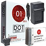 DOT-01 Brand Canon PowerShot G1X Mark III Battery and Charger for Canon PowerShot G1X Mark III Mirrorless and Canon G1X III Battery and Charger Bundle for Canon NB13L NB-13L