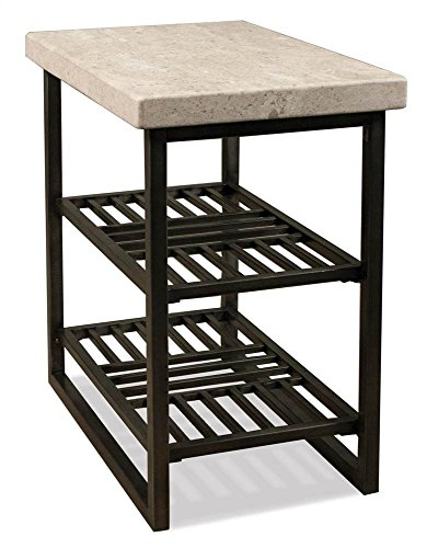 (Riverside Furniture 597074 Modern End Table with Shelf, Black)