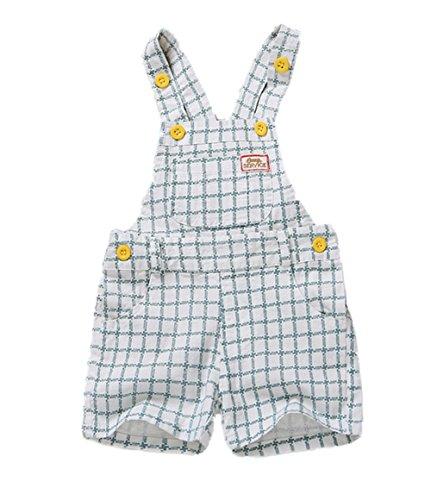 Kidscool Summer Baby Boys/Girls Cute Blue Adjustable Bib Cotton Short Overalls