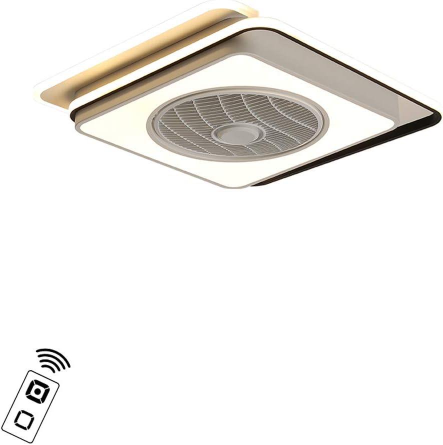 FREELT Lámpara de Techo LED con Ventilador, Regulable con Control Remoto, Lampara Ventilador Techo silenciosos Moderna de 60 vatios, lámpara de Techo para Sala de Estar Comedor, Cuadrado 60X60cm