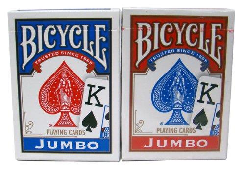 Cartouche BICYCLE jumbo index (6 blaus / 6 rots)