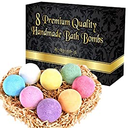 TFGs Multifoam Bath Bombs Natural Set Of 8 Unique Scents X 70 gms | Essential Oils Bath Bomb For Your Bathroom |Perfect Gifts For Women And Men | Natural, Vegan