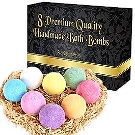 Saintley Bath Bombs for Women Bubble Bath Set of 8 Gift Set | Fizzy Spa Luxetique to Moisturize Dry Skin | Natural Vegan…