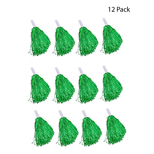 Windy City Novelties Cheerleader Pom Poms - 12 Pack (Green)]()