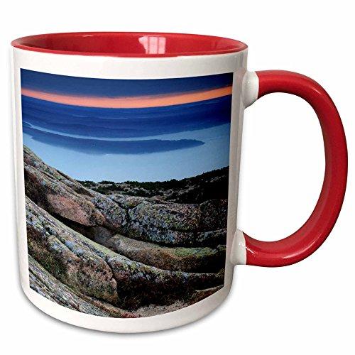 (3dRose Danita Delimont - Mountains - Cadillac Mountain, Acadia National Park, Maine, USA - US20 MHE0011 - Michel Hersen - 15oz Two-Tone Red Mug (mug_144576_10))