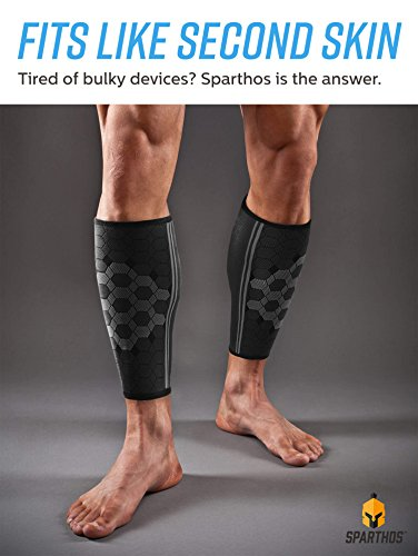 9ca891c4f236b Calf Compression Sleeve by SPARTHOS (Pair) – Leg Compression ...