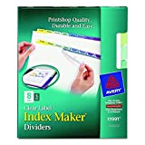 Avery Index Maker Dividers, 8-Tab, Multi-Color,  5 Sets (11991)