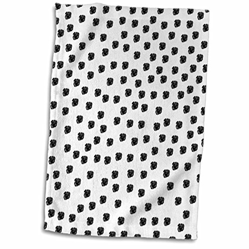 3D Rose Dalmation Spots Dogs Animal Print Black and White Ha