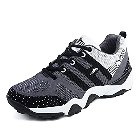 WalkWalk9 Men Ruber Screen Cloth Breathable Summer Shoes(7.5 US,Gray)