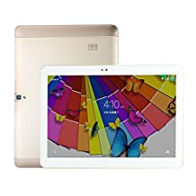 Hot New 10.1 inch Tablets Android 6.0 Octa Core 64GB ROM Dual Camera and Dual SIM Tablet PC Support OTG WIFI GPS 4G LTE 2560X1600 IPS bluetooth phone golden