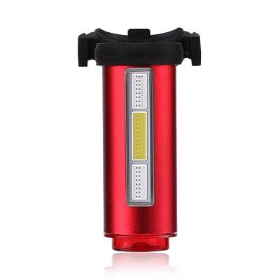 Vélo Feu Arrière Eclairage Arrière Feux D'avertissement USB Rechargeable LED Lampe De Vélo Arrière 7 Modes D'éclairage Irradiation Antichoc IPX5 Impermeable Pour VTT VTC Cyclisme Pous