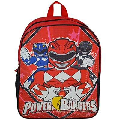 Power Rangers 15IN Red Plain Front BackpackPrism Printing 60%OFF