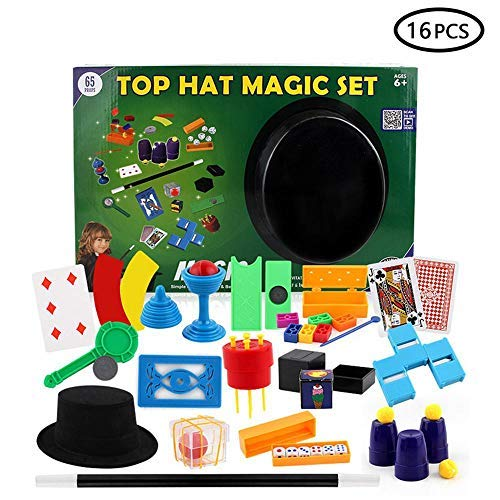 Leegoal Magic Tricks Set for Kids, LEEGHOAL 16PCS Deluxe Magic Tricks Kit with Tutorial Video Idea for Beginners and Kids of All ()